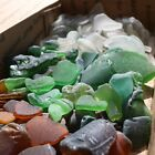 1 LB GENUINE BEACH SEA GLASS SURF TUMBLED MIXED QUALITY BROWN GREEN WHITE CLEAR