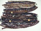 4 Pounds Assorted Shapes and Styles Purple India Handmade Glass Beads GRP 11
