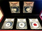 2015 ANACS - RP70 DCAM CANADIAN SILVER MAPLE LEAF 5 COIN SET FIRST STRIKE W BOX