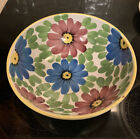 Beautiful Floral Pattern Italian Pottery 10 Serving Bowl