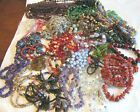 Vintage lot of strands gemstone art glass beads for craft jewelry making
