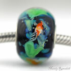 Koi Fish FOCAL Mandy Ramsdell sterling silver european charm bead lampwork glass