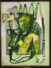 Abstract Portrait Modern Art Green Impressionist Modern Painting Native American