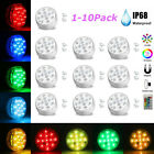 1 10PC Submersible LED Bulb Underwater Lights Fountain Swimming Pool Lamp Remote