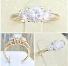 Vintage Solid 14k Yellow Gold CzDiamond Ring Size 725