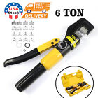 Hydraulic Crimper Crimping Tool w 8 Dies Wire Battery Cable Lug Terminal 6 Ton