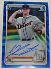 2020 Bowman Draft Chrome Keith Colt Blue Wave Refractor Auto RC 81 150 Tigers