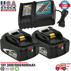 Battery or Charger For 18V Makita 60Ah Lithium ion LXT BL1860 BL1830 BL1850 US