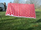 Vintage hand pieced quilt red  pink Tumbling Block 96x70