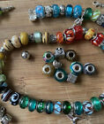 LOT of Murano Glass European Beads Lot 925 Chamilia Sweet 16 Best Sis FREE SHIP