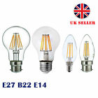 E27 B22 E14 8X 4X LED Retro Filament Flame Candle Globe Light Edison Lamp Bulb