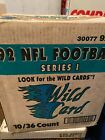 1992 WILD CARD NFL Football Sealed Super Rare 10 Box Case-Central Edition