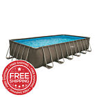 Summer Waves 24 ft Dark Double Rattan Elite Frame Pool FREE SHIPPING
