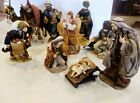 Nativity set 9 12 figures finely crafted detailed textiles superb condition