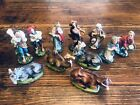 11 Vintage Handpainted Nativity Figures From Italy