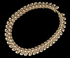 Vintage Gold Plate Nina Ricci Couture Runway Pearl Paste Wide Choker Necklace 15