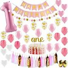 Baby Girl First Birthday Decorations 1st Pink And Gold Party Supplies Happy 1