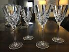 4 VINTAGE CZECH REPUBLIC BOHEMIA HAND CUT CUT TO CLEAR 24 CRYSTAL GLASSES