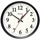 14 in Black Electric Wall Clock Has Glass Lens