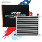 Fit For 30 Row 10An Universal Full Transmission Engine Oil Cooler Silver New