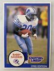 1990 Barry Sanders Starting Lineup Detroit Lions Card Only Football Trading Card
