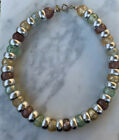 Cadoro Lucite Vintage Necklace Signed Mid Century Silver Tone Spacer Bead