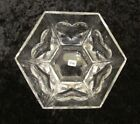 NEW Boda Sweden Clear Heart Love glass decorative serving candy dish