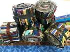 120 25 Pre Cut Jelly Roll Quilt Quilting Strips 100 Cotton Eclectic Fabric