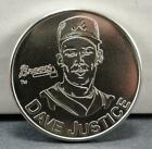 1991 Dave Justice Starting Lineup Collector Coin! Atlanta Braves