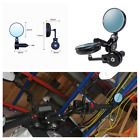 Motorcycle CNC Aluminum 7 8in Handle Bar End Side Rearview Mirrors Anti Glare