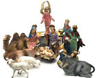 Vintage 13 Piece Nativity Set Fontanini Depose Italy with Spider Mark