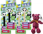Pez Limited Edition Panda and Panda with Crown Bundle Pack of 4 with By The Cup