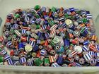5 Pounds Assorted India Handmade Chevron Glass Beads Lot 2nd Quality MB 234