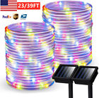 Solar Powered LED Fairy String Rope Strip Lights Waterproof Outdoor Garden Patio
