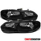 For 1998 2002 Chevy Camaro Base Z28 Black Headlights Lamps Left+Right 98 02