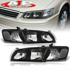 Black Clear Driving Halogen Head Lights Lamps LH + RH For 2000 2001 Toyota Camry