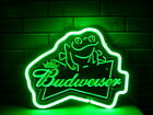 New Green Frog 3D Carved Neon Sign 14x10 Light Lamp Glass Beer Bar Gift