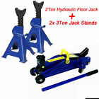 Hydraulic Floor Trolley Jack 2 3 Ton Car 4x4 Van Suv High Lift 140-290mm Stands
