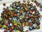 3 Pounds India Handmade Millefiori Factory Reject Glass Beads Bulk Lot KJ 6