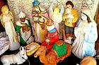Vintage Empire Nativity Set 11 Pieces Blow Mold Yard Decor Scene Lighted 50 each