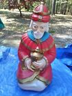 Vintage Empire Blow Mold Wise Man King Kneeling Nativity Christmas