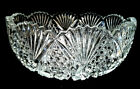 LARGE LEAD CRYSTAL GLASS BOWL 9 HAND CUT CZECH SERVING DISH DECOR FRUIT