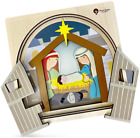 Premium Wooden Nativity Puzzle for Kids  4 Layers  35 Piece  Nativity Set  C