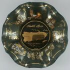 Puerto Rico Glass Ashtray Candy Dish with Gold Trim