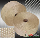 360 High Temp Heat Wrap Shield Cover Insulation Reduction Piping Kit Titanium