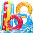 4 Pcs Inflatable Donuts Pool Floats for Kids Swimming Rings for Kids Pool