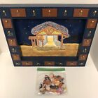 Kurt Adler ADVENT CALENDER Wooden Magnetic Nativity Display Christmas