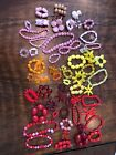 59 sets Huge Lot Czech Glass Beads Yellows Orange Red And Pink