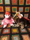 Lot Of two TY beanie babies Scorch & Charmer Monkey and dragon