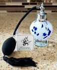 Murano Vintage Italian Glass Perfume Atomizer Controlled Bottle Hand Blown